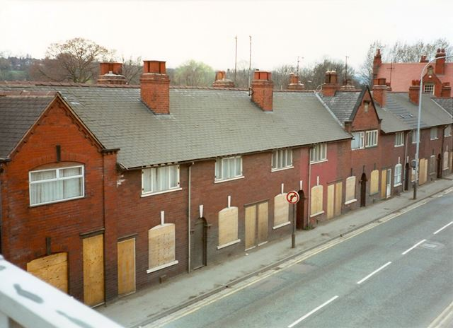 View from Footbridge over Markham Road, Chesterfield, late 1990s