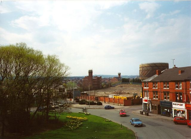 West Bars/Foljambe Road Junction, Chesterfield, from Multi-Storey, late 1990s
