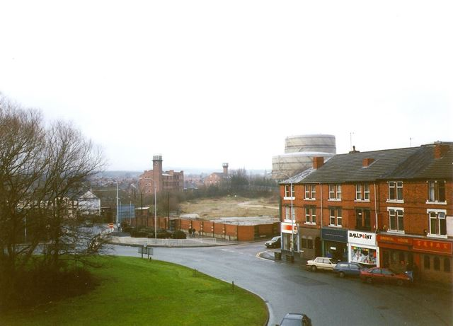 West Bars Roundabout and Foljambe Road, Chesterfield, 1995
