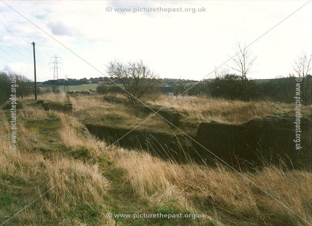 Site of GCR Staveley Works Railway Station, Hollingwood, 1994
