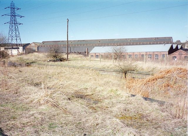 Stavely Works from Position of Railway Platform, nr Station Road, Hollingwood, 1995