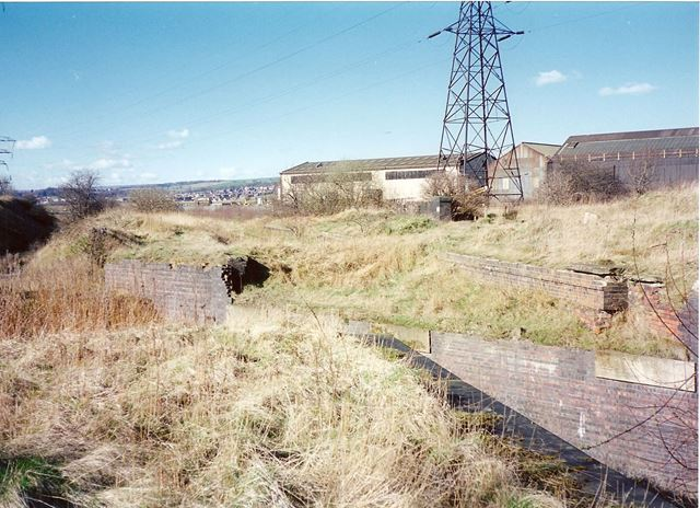 Remains of Staveley Works Station Beside Chesterfield Canal, nr Station Road, Hollingwood, 1995