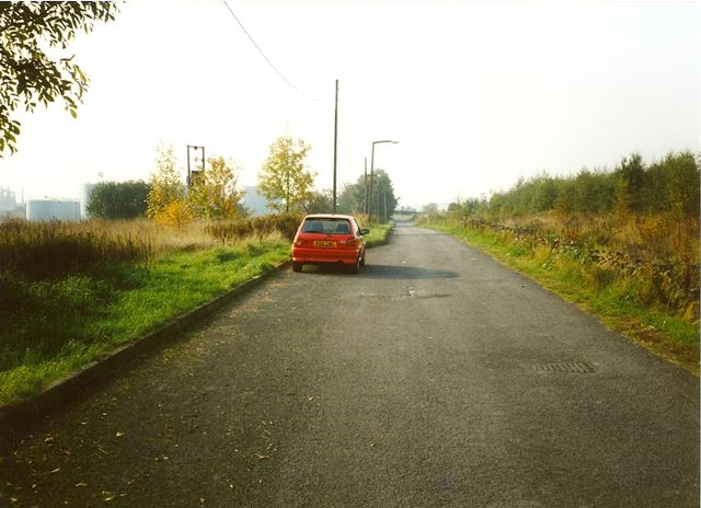 Road from Devonshire Villas/Cottages towards Cavendish Place, Barrow Hill, 1994