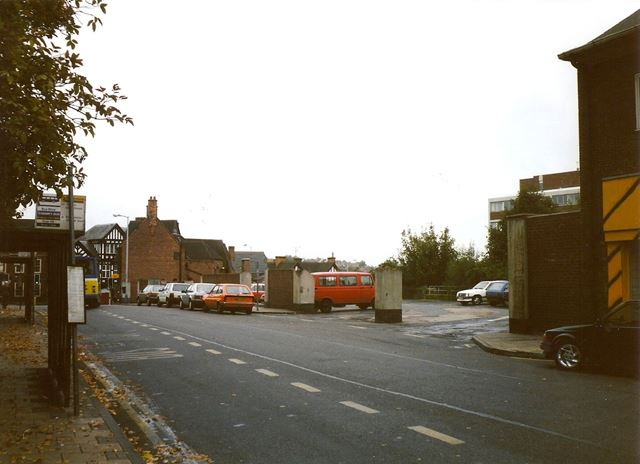 Bus Stops and Shelters, Vicar Lane (before Redevelopment), Chesterfield, 1994