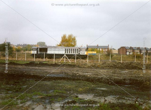 Diesel Locomotive on Line Beside Staveley Chemicals Site, Hall Lane, Barrow Hill, 1994