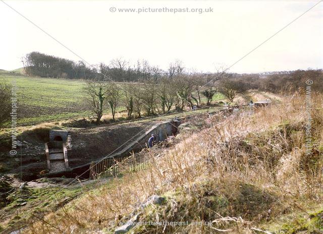 Renovation of Bluebank Lock, Chesterfield Canal, nr Station Lane, New Whittington, 1994