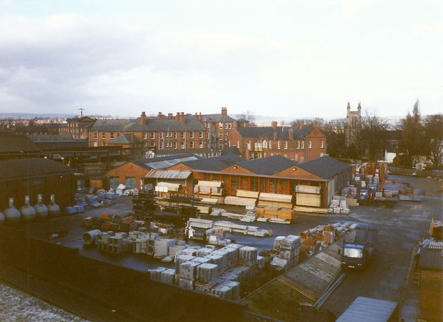 Builders' Merchant's from Multi-Storey Car Park, Holywell Cross, Chesterfield 1995