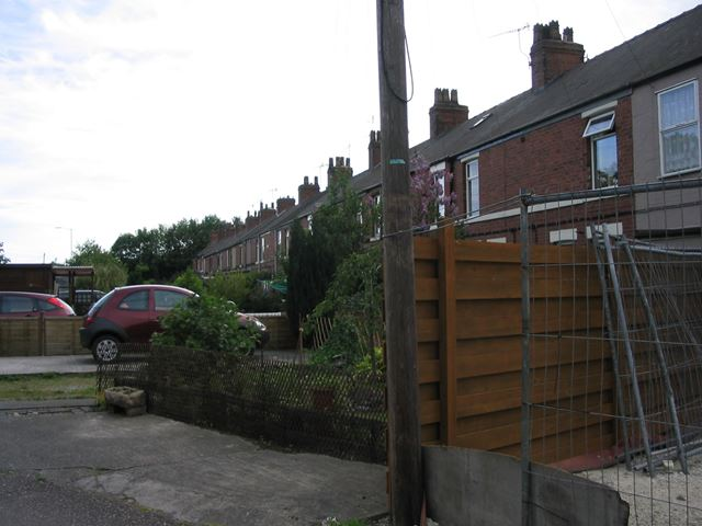 Fronts of Houses on Tapton Terrace, Chesterfield, 1995