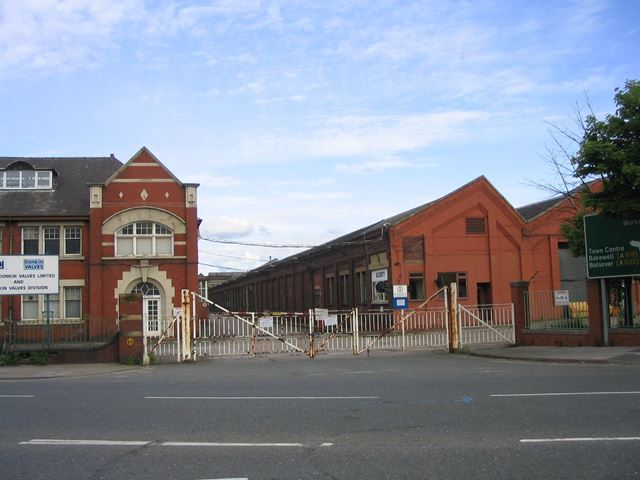 Entrance to Brian Donkin Engineering Works, Derby Road, Chesterfield, 1995