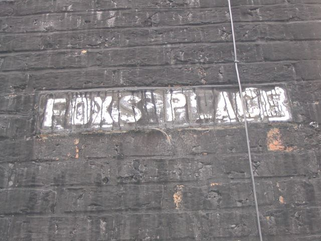 FoxÆs Place Sign, Off Old Road, Brampton, Chesterfield, 1995