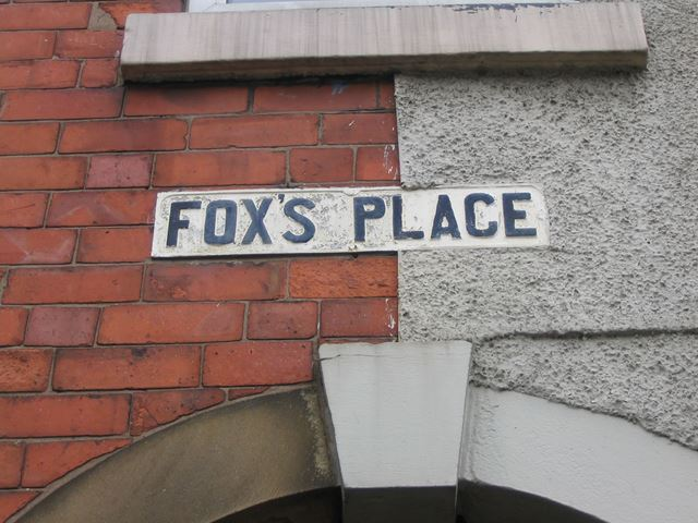 FoxÆs Place Sign Above Alleyway, 359 / 357 Chatsworth Road, Brampton, 1995