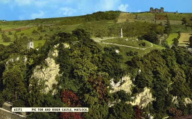 Pic Tor and Riber Castle, Matlock, c 1935
