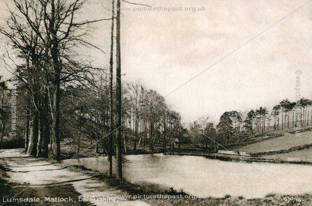 Mill Pond, Lumsdale, Matlock, c 1910