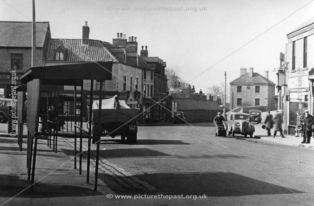 Market Place, Bolsover, c 1955
