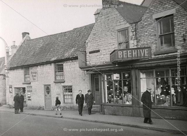 Shops, Town End, Bolsover, c 1955