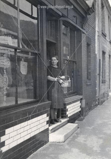 Middle Street Shop, Bolsover, c 1955