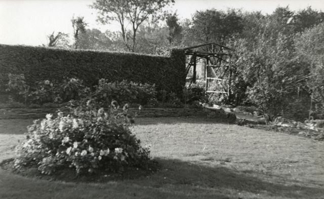Garden, Sherwood Lodge, Bolsover, c 1950