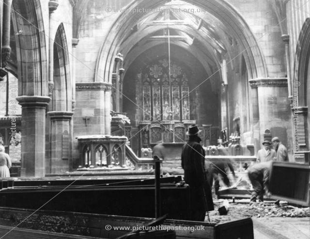 Bolsover Parish Church Fire, 1960