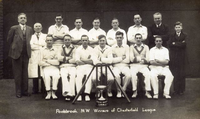 Poolsbrook Miners Welfare Cricket Winners, c 1930