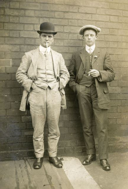 Bert Lethall and Friend, Bolsover, c 1910