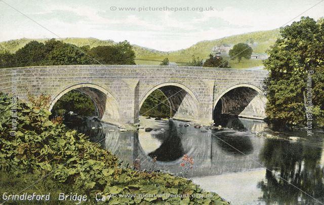 Grindleford Bridge, Grindleford, c 1910