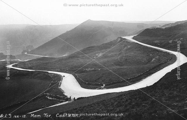 View from near Mam Farm, Mam Tor, c 1910 ?