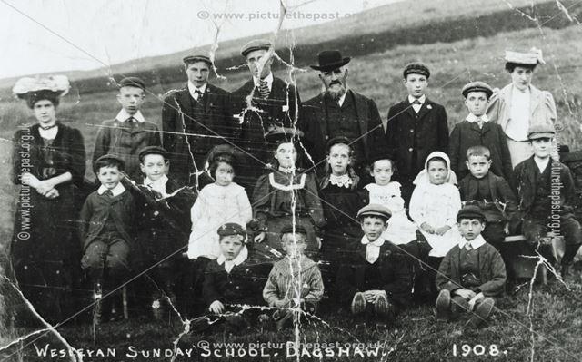 Wesleyan Sunday School, Bagshaw, 1908