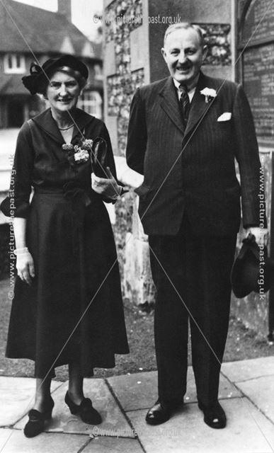 Dr and Mrs Mowatt, Chinley, c 1950s