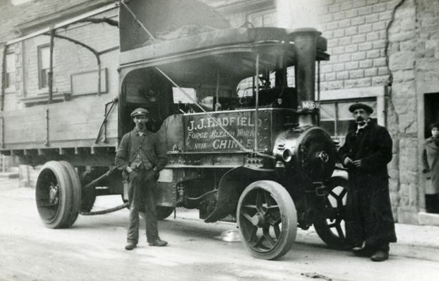 A J J Hadfield 'Forge' lorry at Chapel-en-le-Frith, undated