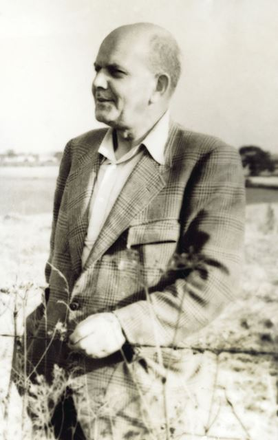 Mr T W Judson, farmer, Leconfield, East Riding of Yorkshire, c 1955 ?