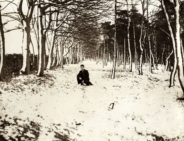 Snow scene at Blacka Moor, Dore, South Yorkshire, 1944