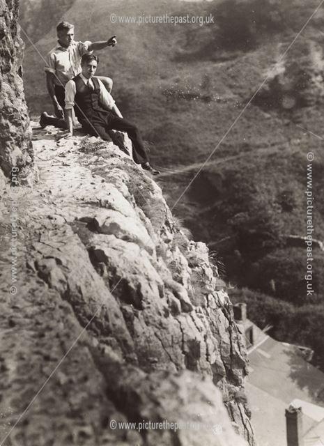 Lovers' Leap, Stoney Middleton, c 1930s ?