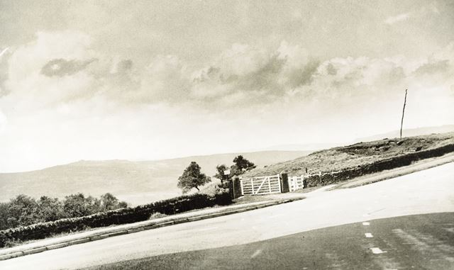 Entrance to the Longshaw Estate off the Owler Bar road, Longshaw, c 1930s ?