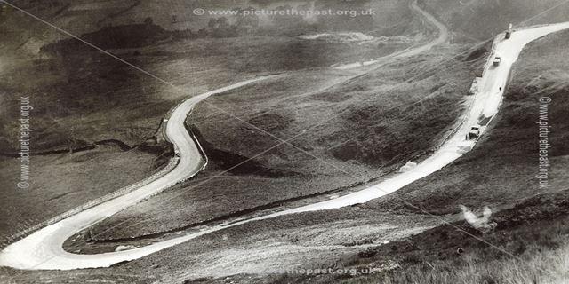 Road repairs on Mam Tor, Castleton, c 1930s ?