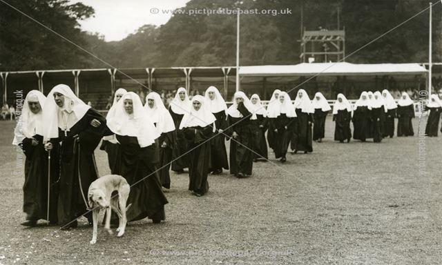 Nuns Procession, Welbeck Abbey, Welbeck, c 1950s?