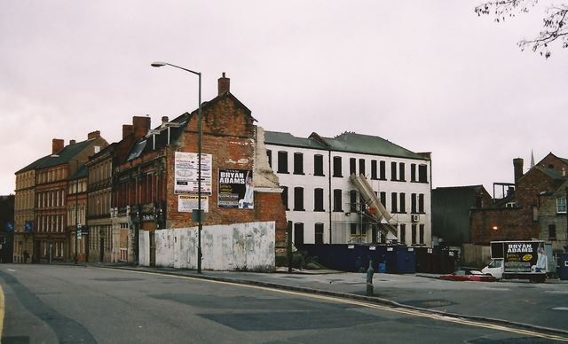 Building Site, Fletcher Gate, Lace Market, Nottingham, 2001