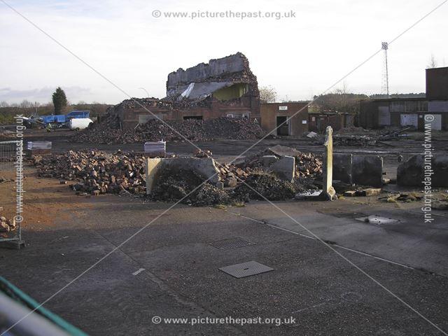 Demolition of Rescue Room, Clipstone Colliery, off Mansfield Road, Clipstone, 2007