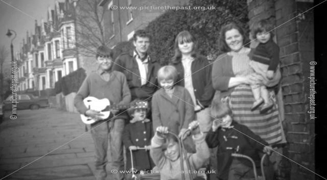 Members of the Elliott Family Outside 72 Dryden Street, Nottingham, 1967