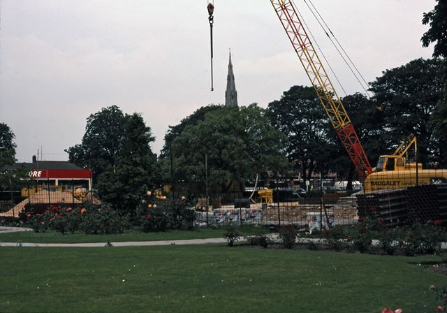 Site of new Library, London Road Gardens, Newark, 1987