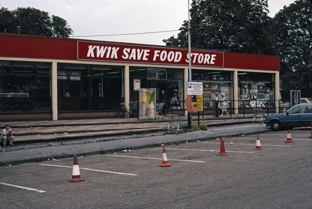 Kwik Save Supermarket Car Park, London Road, Newark, 1987
