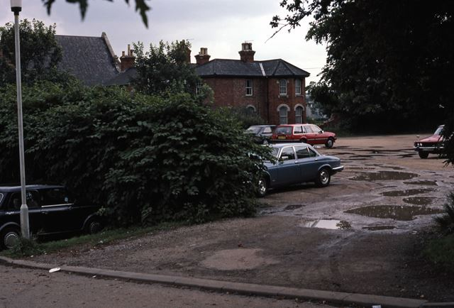 Car Park at rear of North Gate House, Slaughterhouse Lane, Newark, 1987