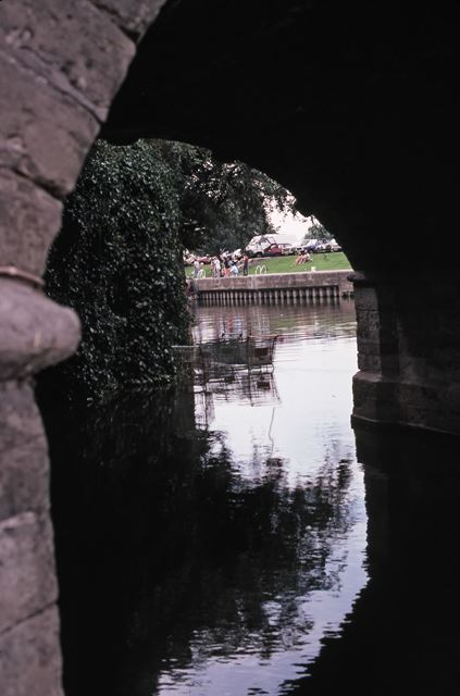 View Under Trent Bridge Arch, River Trent, Newark, 1987