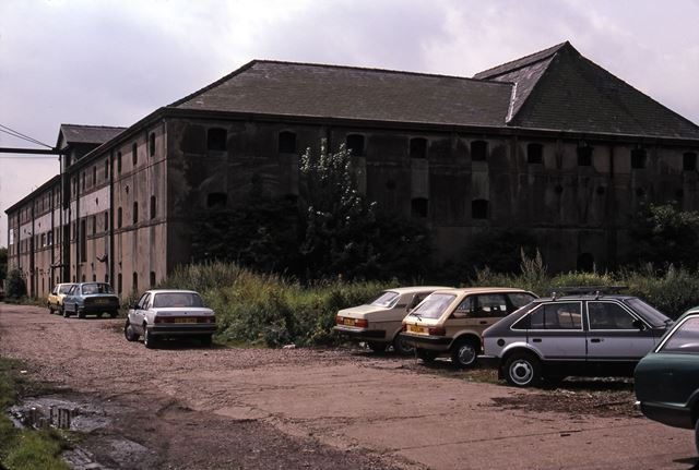 Warehouses Adjacent to River and Near Railway, Newark, 1987
