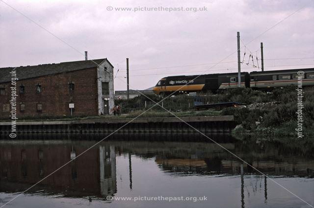 Intercity 125 Train Going Past River Trent, Newark, 1987
