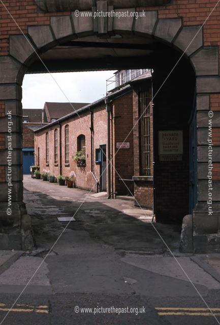Head Post Office Yard Entrance, Kirk Gate, Newark, 1987
