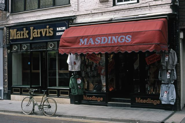 Jarvis Bookies and Masdings Shops, Middle Gate, Newark, 1987