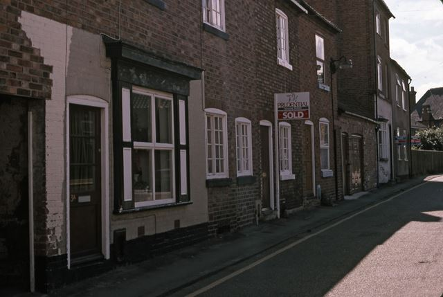 Guildhall Street from Barnby Gate end, Newark, 1987