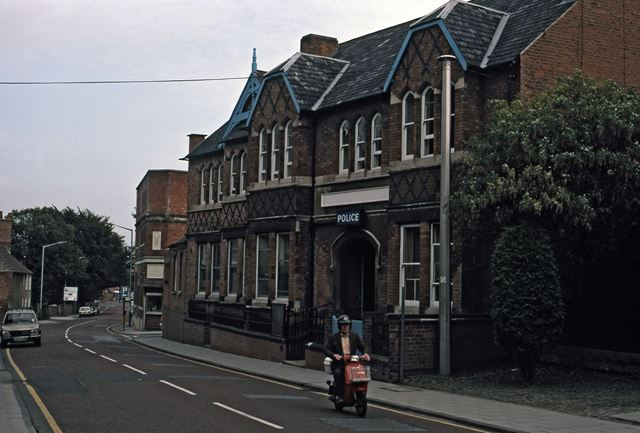 Police Station Looking North, Appleton Gate, Newark, 1987