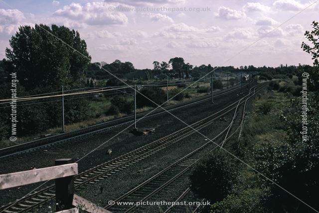 Railway Bridge Looking South, Beacon Hill Road, Newark, 1987