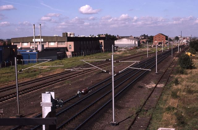 Railway Bridge Looking North, Beacon Hill Road, Newark, 1987